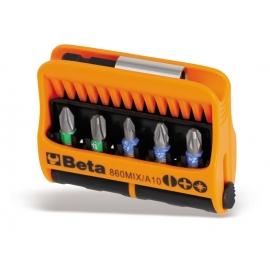JOGO DE BITS DIVERSOS COM ACESSÓRIO 1/4 - 860MIX/A10 - BETA |860MIX_A10_1