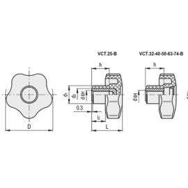MANÍPULO DE APERTO VCT COM ROSCA MACHO |desenhomanipulovctf