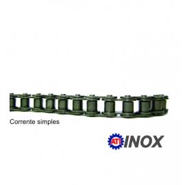 CORRENTE SIMPLES DE ROLO NORMA DIN INOX