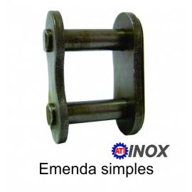 EMENDA SIMPLES DE ROLO NORMA DIN INOX -