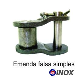 EMENDA SIMPLES FALSA DE ROLO NORMA DIN INOX -