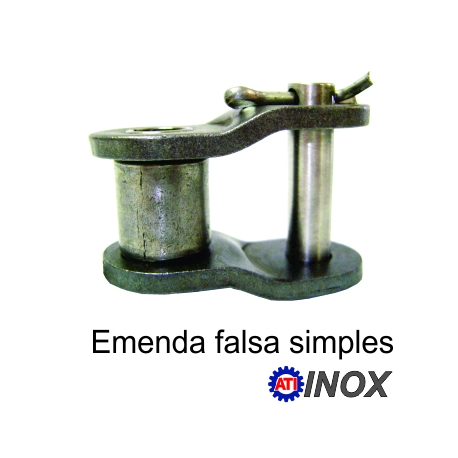 EMENDA SIMPLES FALSA DE ROLO NORMA DIN INOX (Tipo: 06B-1)  fotov1pag38e